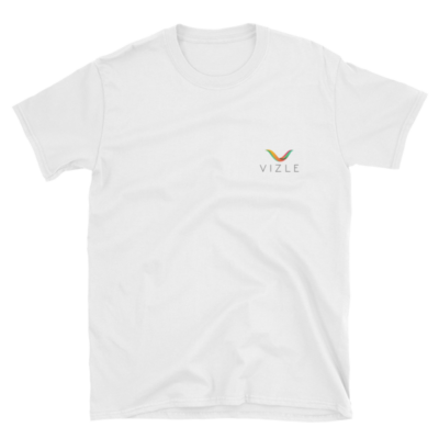 VIZLE Short-Sleeve Unisex T-Shirt White