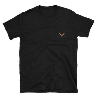 VIZLE Short-Sleeve Unisex T-Shirt Black