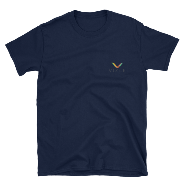 VIZLE Short-Sleeve Unisex T-Shirt Navy