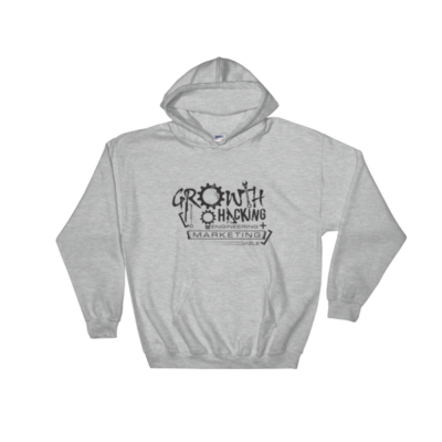 """Growth Hacking = Engineering + Marketing"" Hooded Sweatshirt (Sport Grey)"