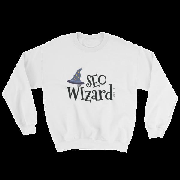 """""""SEO Wizard"""" Sweatshirt (White)"""