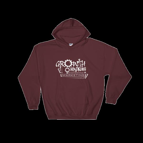 Growth Hacking = Engineering + Marketing Hooded Sweatshirt (Maroon)