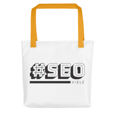 #SEO Tote Bag - Yellow Handle