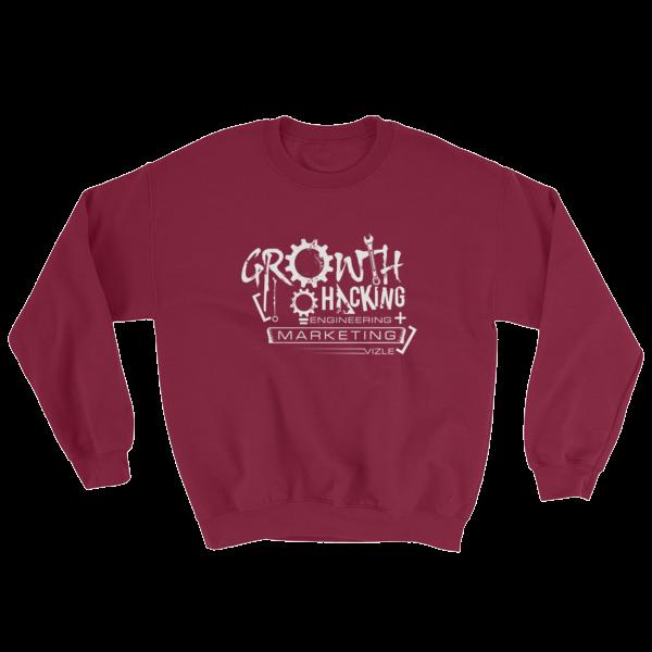 Growth Hacking = Engineering + Marketing Sweatshirt (Maroon)