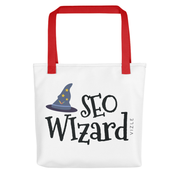 SEO Wizard Tote Bag - Red Handle