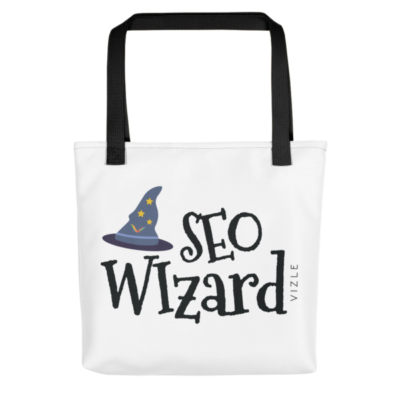 SEO Wizard Tote Bag - Black Handle