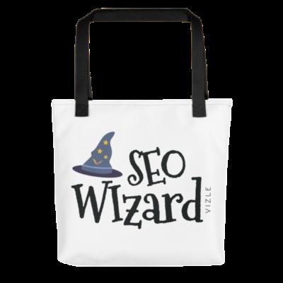 SEO Wizard Tote Bag - Black Handle