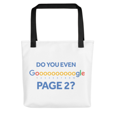 Do You Even Google Page 2 Tote Bag - Black Handle