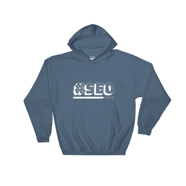 #SEO Hooded Sweatshirt (Indigo Blue)
