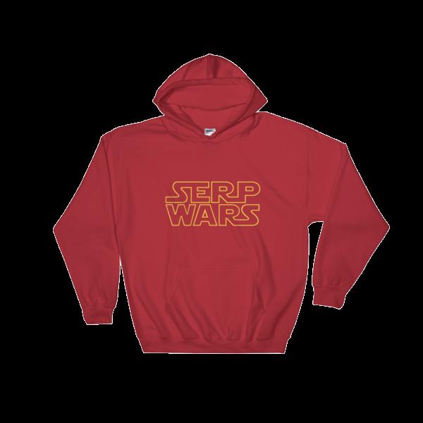 SERP WARS Hooded Sweatshirt - Red
