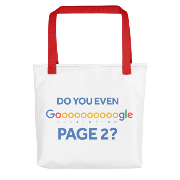 Do You Even Google Page 2 Tote Bag - Red Handle