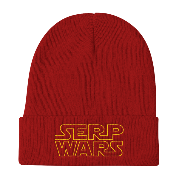 SERP WARS Knit Beanie - Red