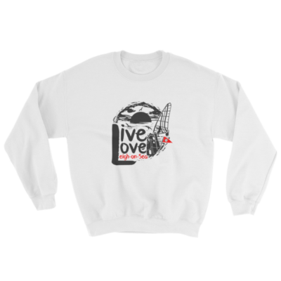 Live, Love, Leigh-on-Sea White Sweatshirt