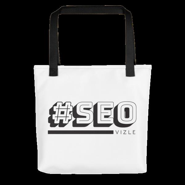 #SEO Tote Bag - Black Handle