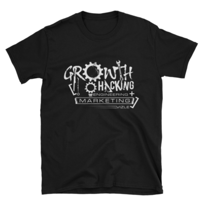 Growth Hacking = Engineering + Marketing T-Shirt (Black)