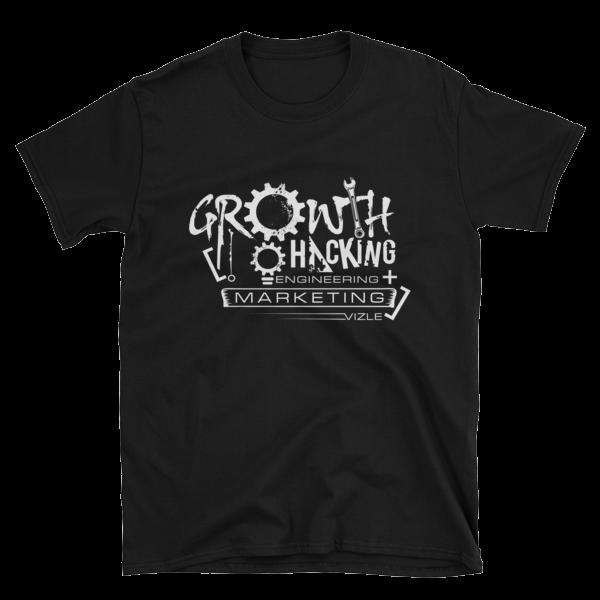 Growth Hacking = Engineering + Marketing T-Shirt (Black)