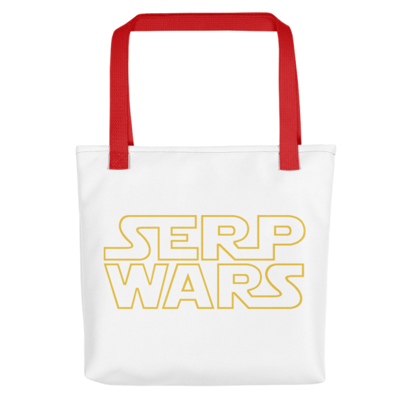 SERP WARS Tote Bag - Red Handle