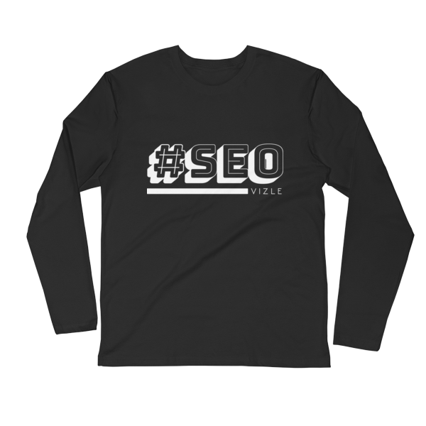 #SEO Long Sleeve Fitted Crew (Black)
