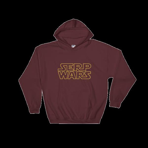 SERP WARS Hooded Sweatshirt - Maroon