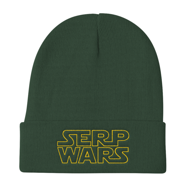 SERP WARS Knit Beanie - Dark Green