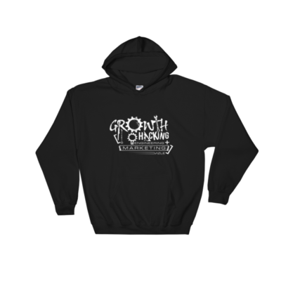 Growth Hacking = Engineering + Marketing Hooded Sweatshirt (Black)