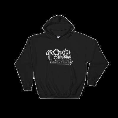 Growth Hacking = Engineering + Marketing Hooded Sweatshirt (Black)