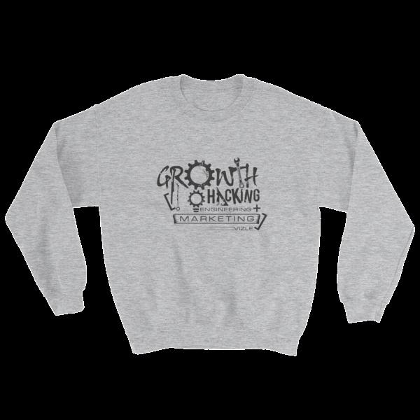 """Growth Hacking = Engineering + Marketing"" Sweatshirt (Sport Grey)"