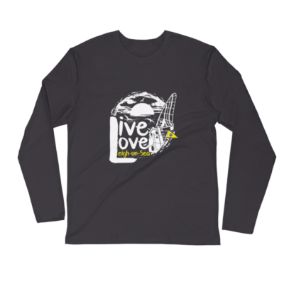 LIVE, LOVE, LEIGH-ON-SEA LONG SLEEVE FITTED CREW HEAVY METAL