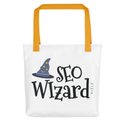 SEO Wizard Tote Bag - Yellow Handle