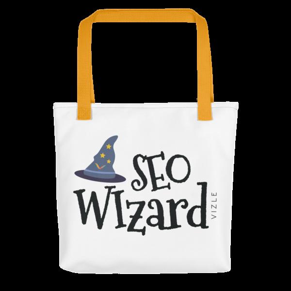 SEO Wizard Tote Bag - Yellow Handle