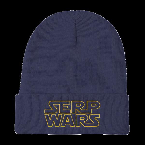 SERP WARS Knit Beanie - Navy