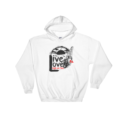 Live, Love, Leigh-on-Sea White Hooded Sweatshirt