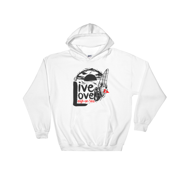 Live, Love, Leigh-on-Sea White Hooded Sweatshirt