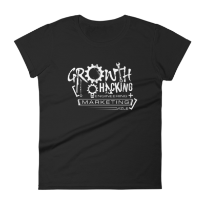 Growth Hacking = Engineering + Marketing Women's T-shirt (Black)