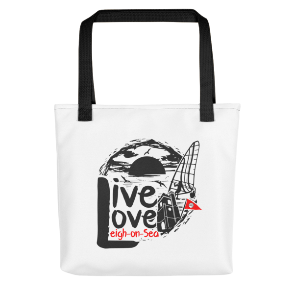 Live, Love, Leigh-on-Sea Tote Bag (Black Handle)