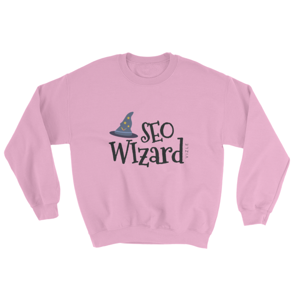 """SEO Wizard"" Sweatshirt (Light Pink)"