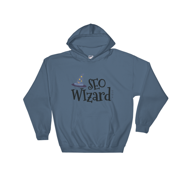 SEO Wizard Hooded Sweatshirt - Indigo Blue