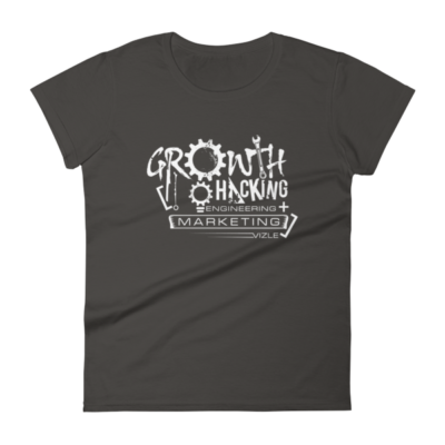 Growth Hacking = Engineering + Marketing Women's T-shirt (Smoke)