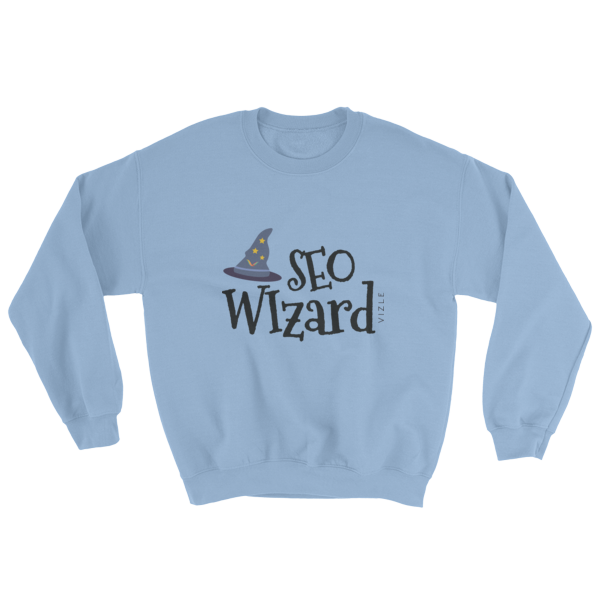 """SEO Wizard"" Sweatshirt (Light Blue)"
