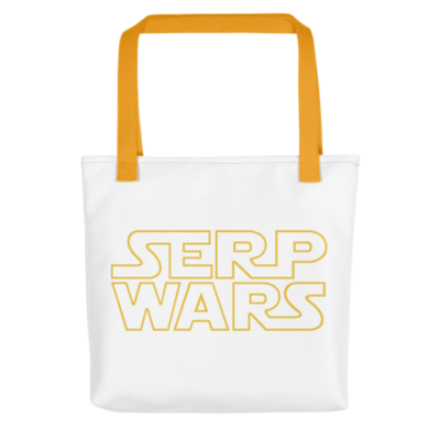 SERP WARS Tote Bag - Yellow Handle