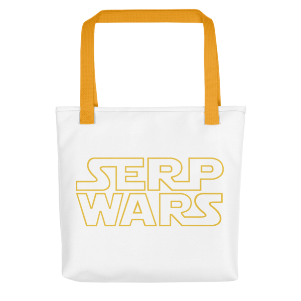 SERP WARS Tote Bag - Yellow Handle