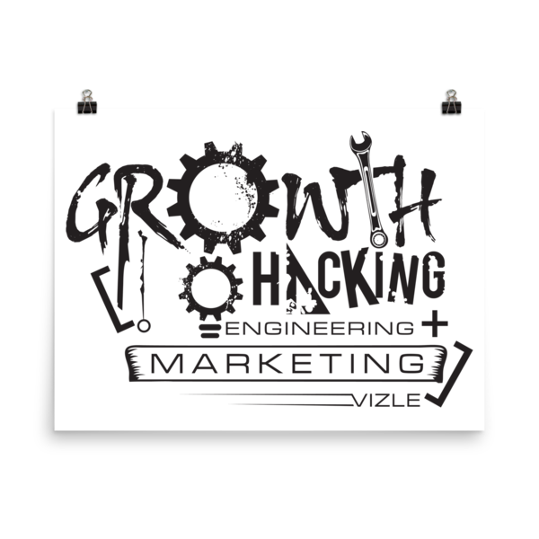 """Growth Hacking = Engineering + Marketing"" Poster"