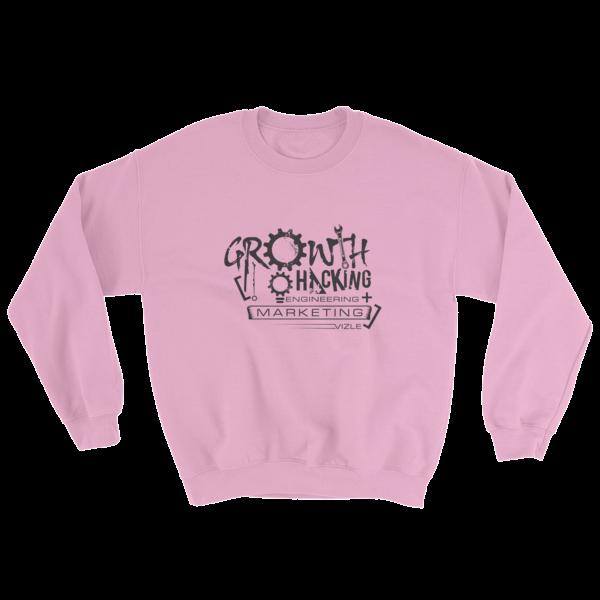 """Growth Hacking = Engineering + Marketing"" Sweatshirt (Light Pink)"