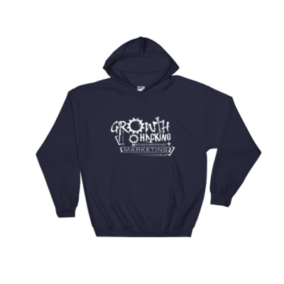 Growth Hacking = Engineering + Marketing Hooded Sweatshirt (Navy)