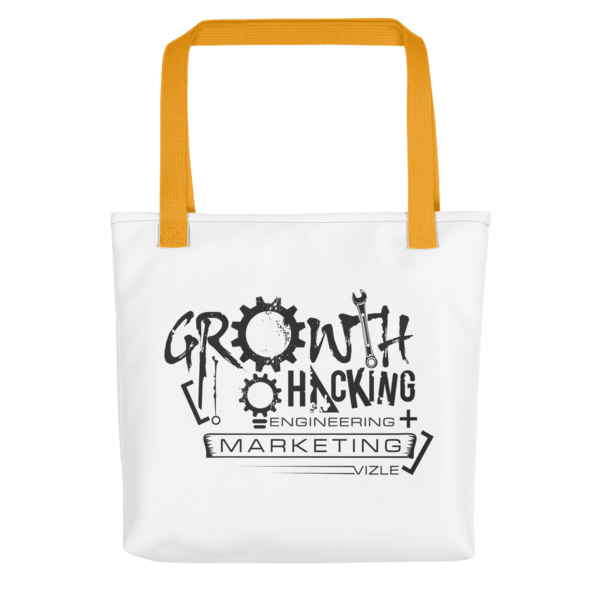 Growth Hacking = Engineering + Marketing Tote Bag (Yellow Handle)