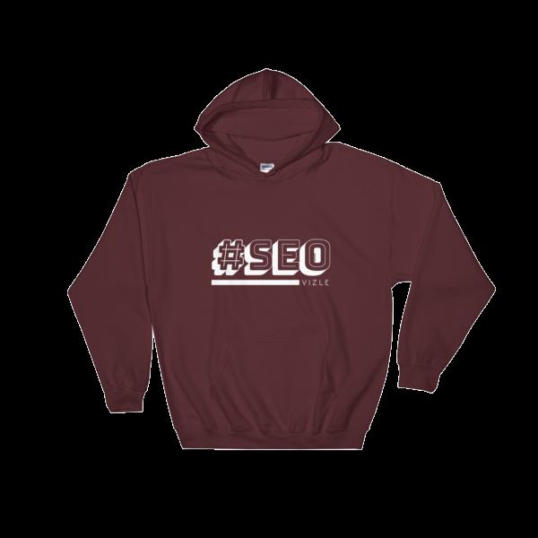 #SEO Hooded Sweatshirt (Maroon)