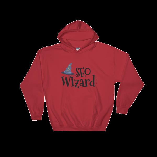 SEO Wizard Hooded Sweatshirt - Red