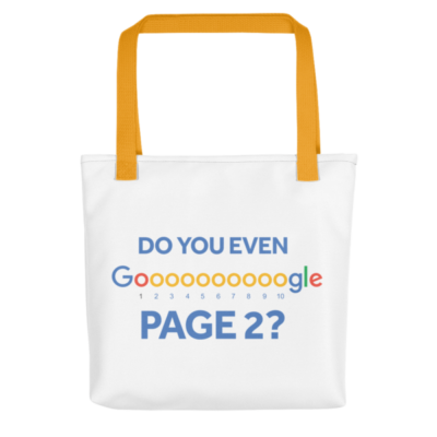Do You Even Google Page 2 Tote Bag - Yellow Handle