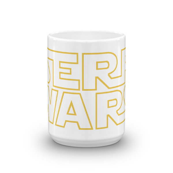SERP WARS SEO Mug (yellow letters - 15oz)
