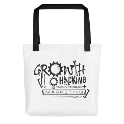 Growth Hacking = Engineering + Marketing Tote Bag (Black Handle)